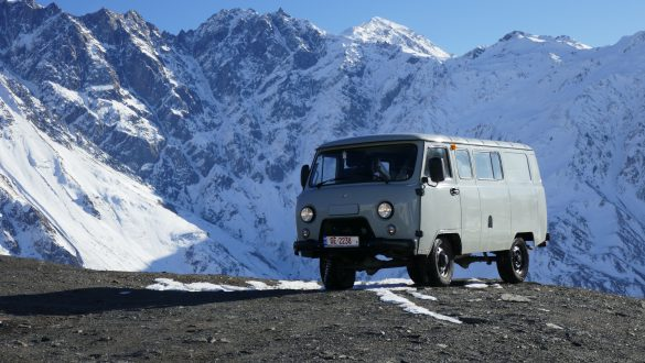 UAZ Buhanka on Kazbegi