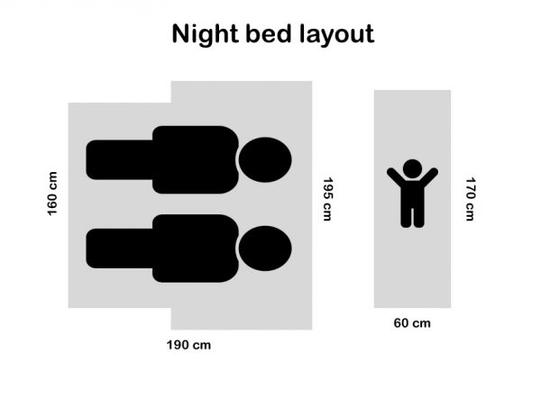 Night bed layout